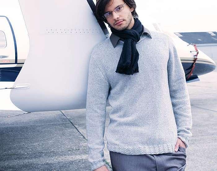 Пуловер с резинкой с косами