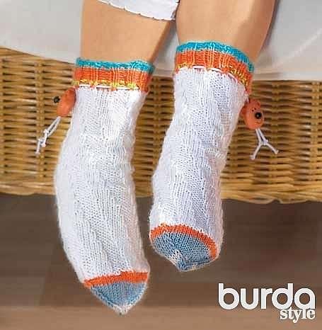 Детские носочки с декоративным шнуром