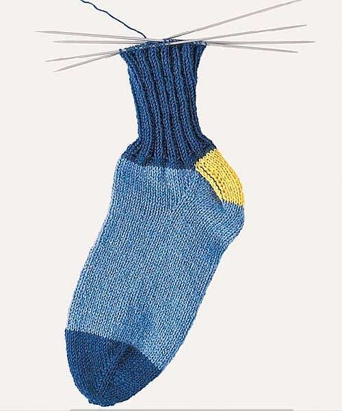 Как вязать носки от мыска
