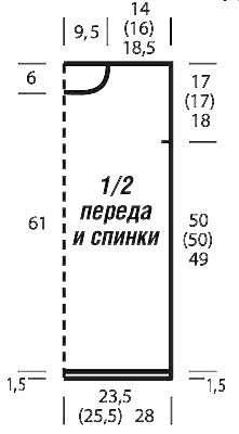 Туника со структурным узором