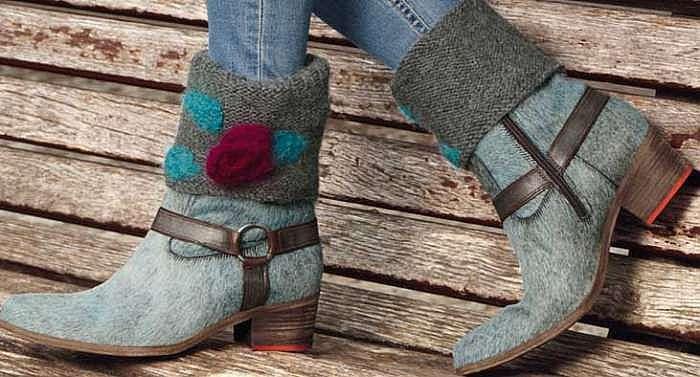 Манжеты для обуви с розочками