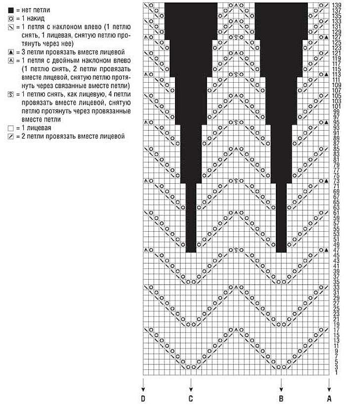 Кардиган с рельефными узорами