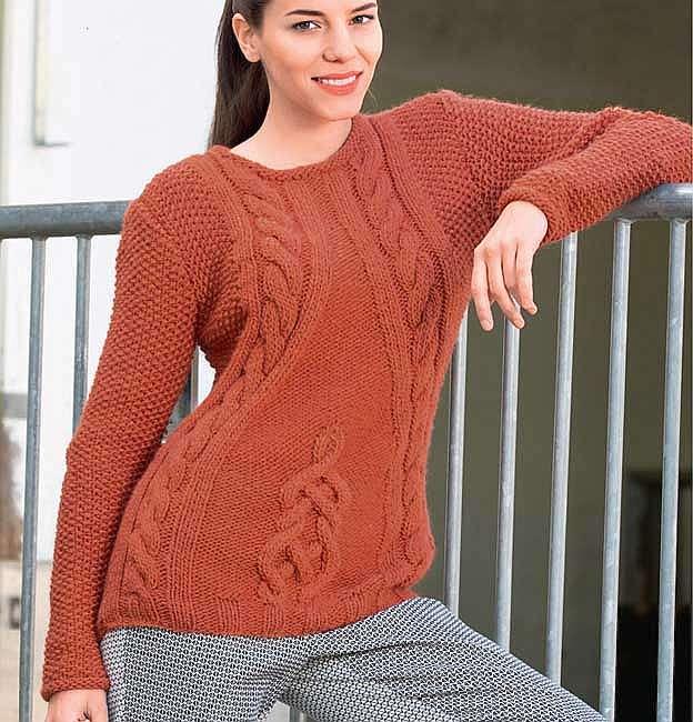 Пуловер с «косами» и кельтским орнаментом