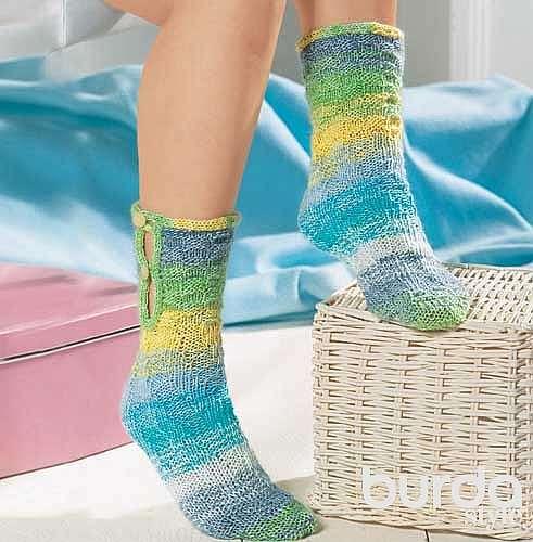 Носки с застежкой