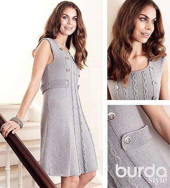 Платье с узором «цепочки»
