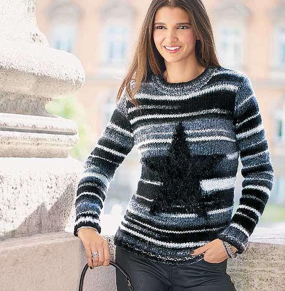 Пуловер со звездой