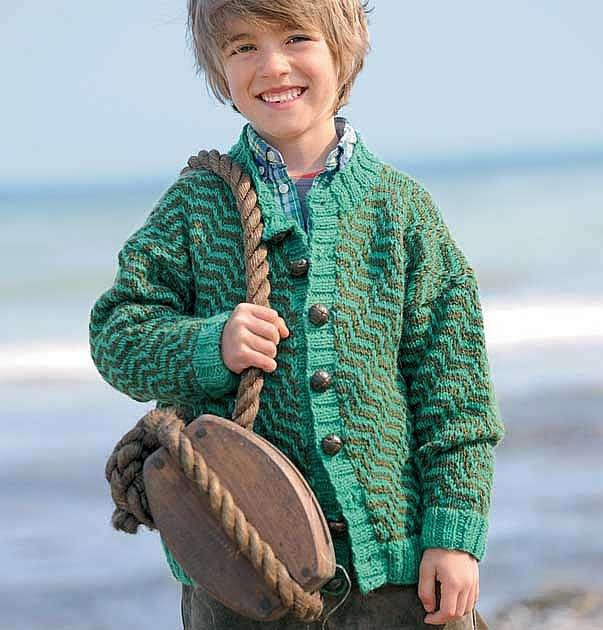 Двухцветная кофта для мальчика