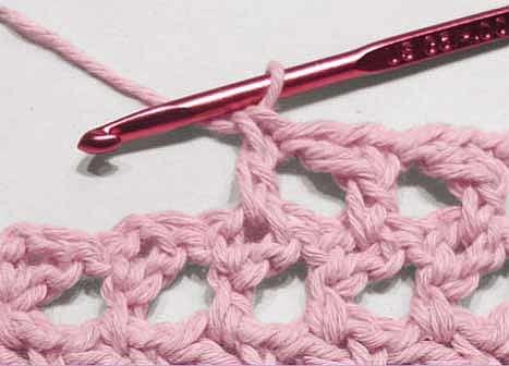 Как вязать столбик на «ножке»