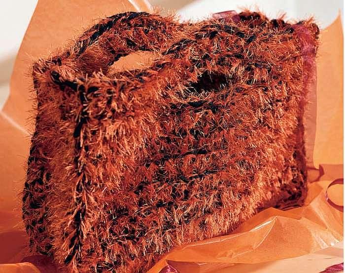 Черно-рыжая сумка