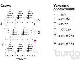 Ажурный джемпер с узором «треугольники»
