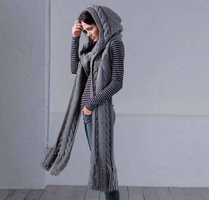 Капюшон с шарфом