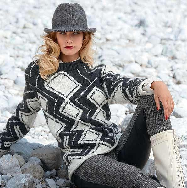 Норвежский свитер в стиле модерн