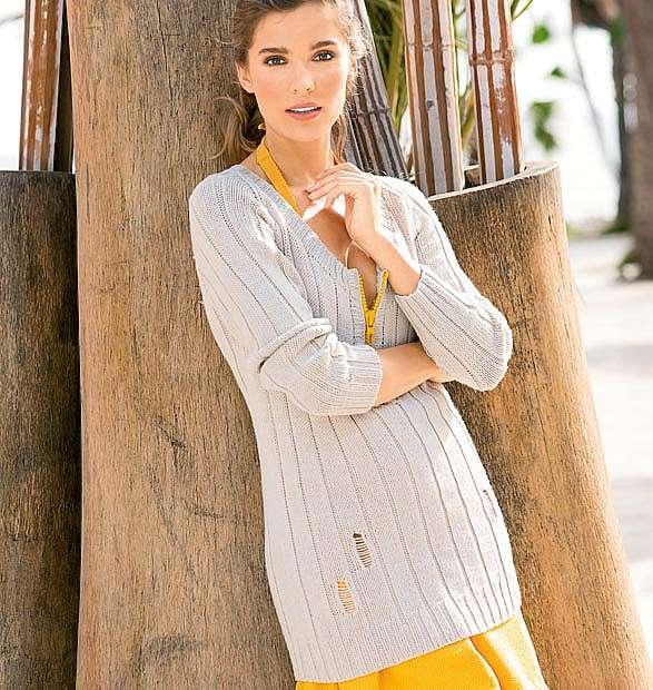 Пуловер с застежкой на молнию
