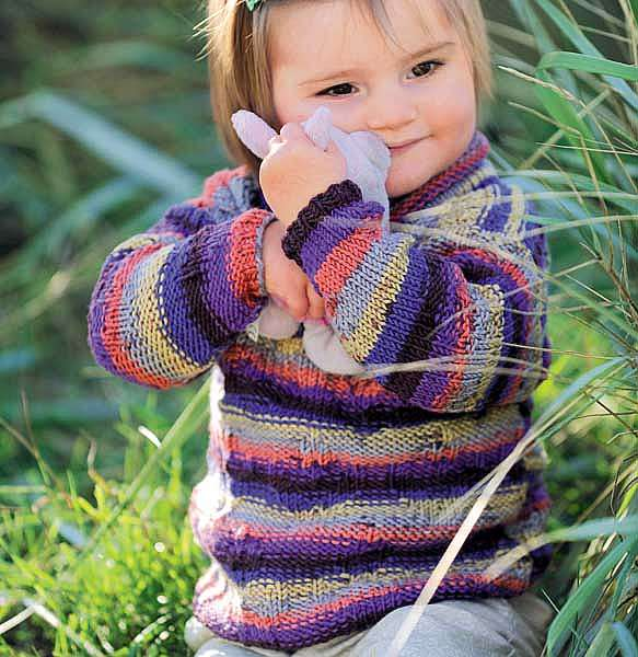 Детский свитер с высоким воротом