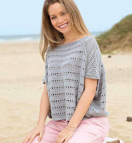 Пуловер в стиле оверсайз