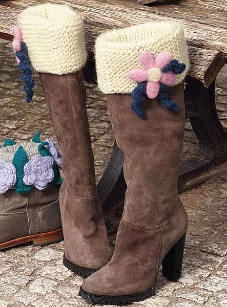 Манжеты для обуви с розовыми цветами