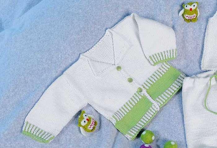 Жакет для новорожденных