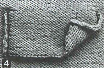 Карманы на вязаном трикотаже