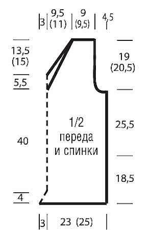 Топ с диагональным узором