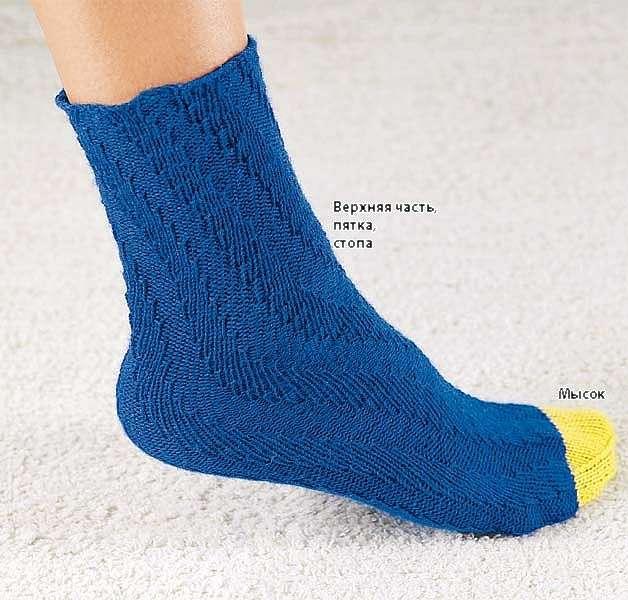 Как вязать носки по спирали