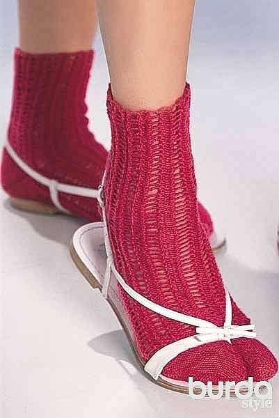 Носки с сетчатым узором