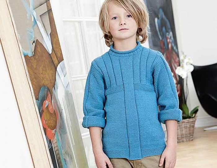 Свитер для мальчика с рельефными узорами