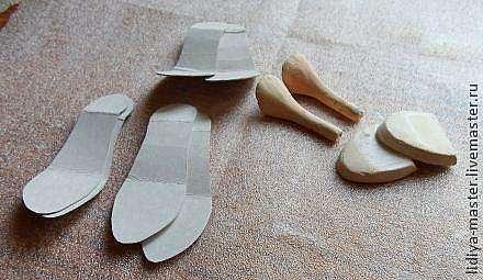 Обувь для барби из картона своими руками 81