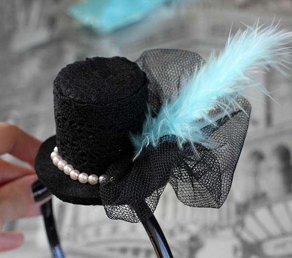 Шляпка для ободка своими руками
