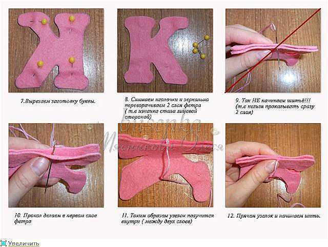 Буквы на ткани своими руками