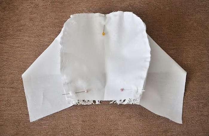 Шьем нарядный чепчик для малышки