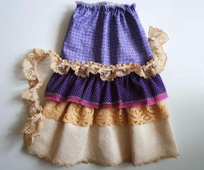 Как сшить юбку для большой куклы 42