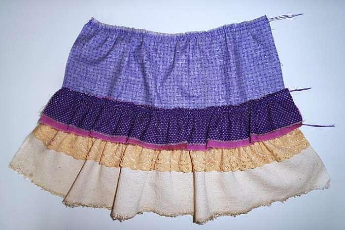 Как сшить юбку для большой куклы 72
