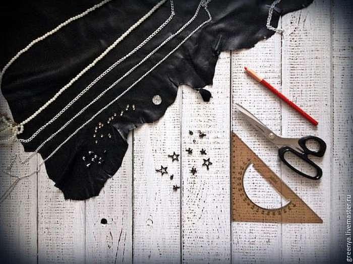 Как сшить галстук-бабочку из кожи