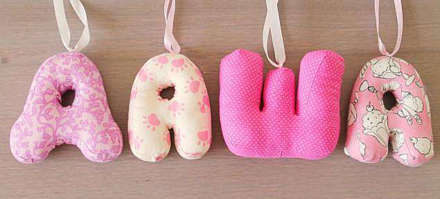 Мягкие буква своими руками