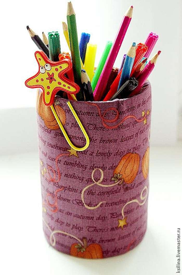 Баночки для карандашей сделать своими руками 270