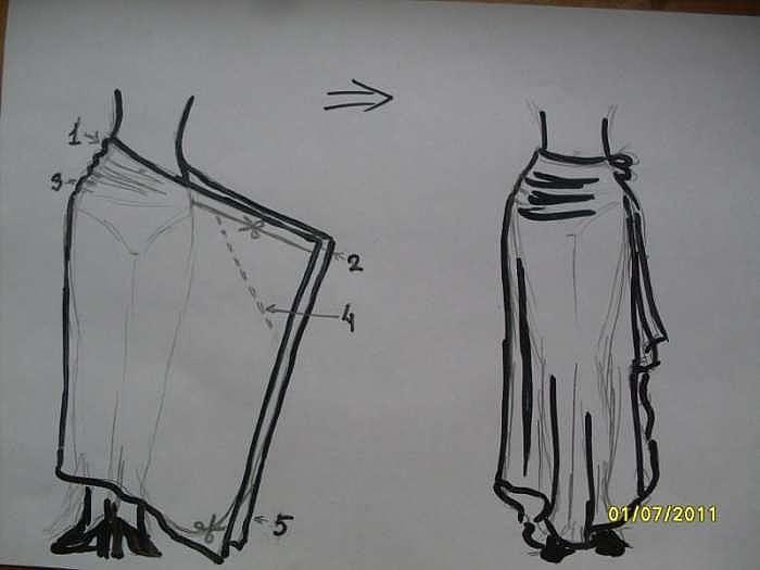 Летняя юбка своими руками без выкройки быстро