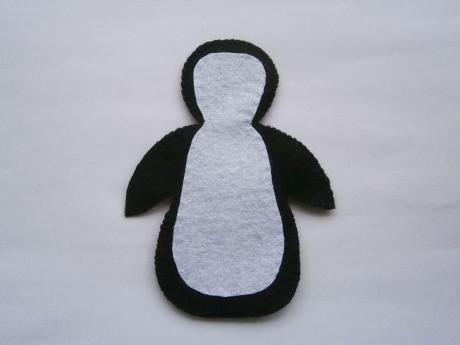 Пингвин из фетра12