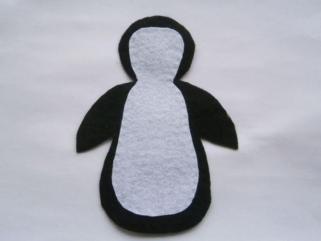 Пингвин из фетра9