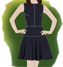 Технология обработки и пошива платья