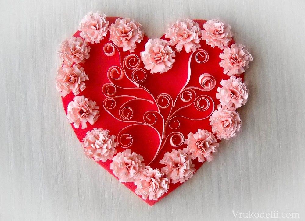 Своими руками из бумаги валентинки