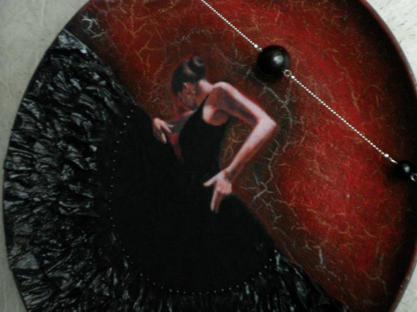 """Объемный декупаж: тарелка """"Танцовщица Фламенко"""" - мастер-класс"""