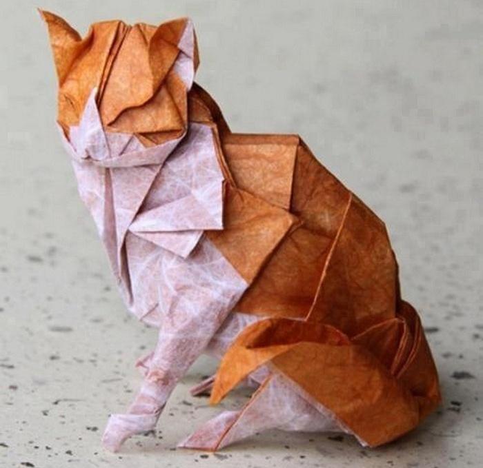 Животное из бумаги оригами