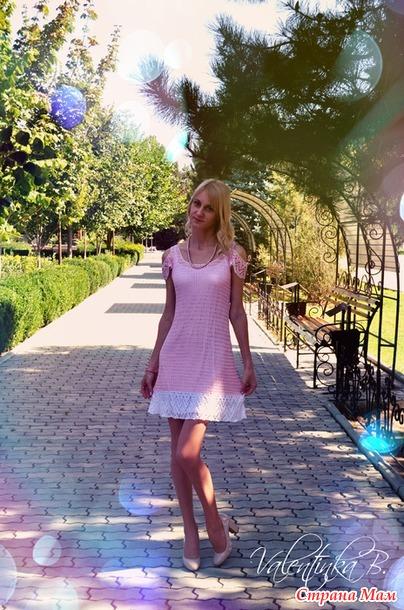 Как связать красивое платье крючком, видео