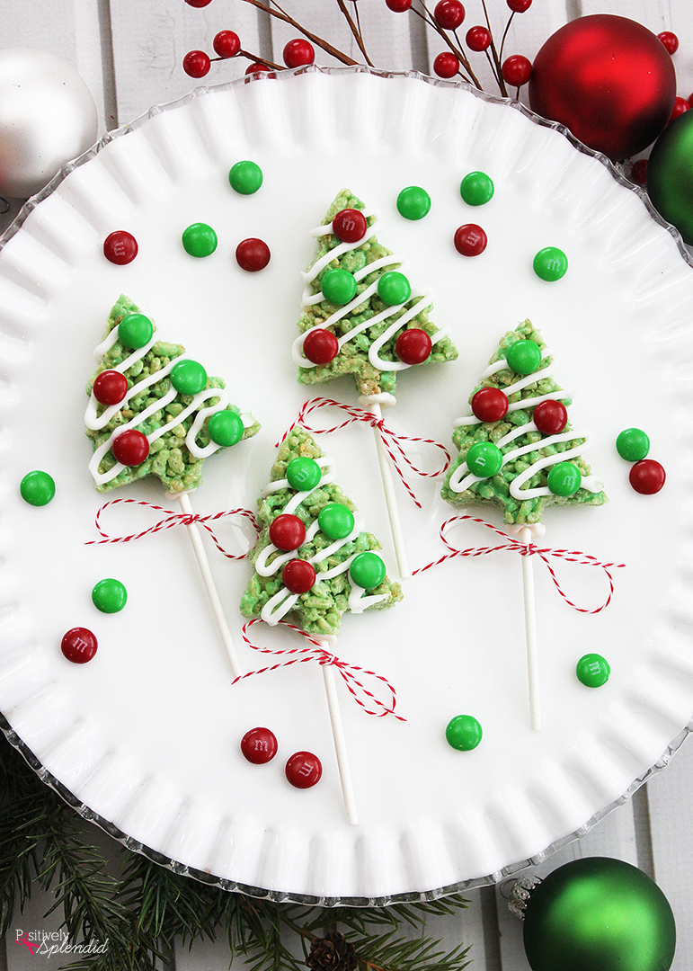 """Рождественская елка риса Krispies Treat Pops """"width ="""" 799 """"height ="""" 1940 """"/> <img data-attachment-id="""