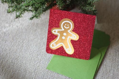 """Рождественская открытка для пряников, спроектированная и разрезанная с помощью Cricut """"width ="""" 500 """"height ="""" 333 """"/> <span class="""