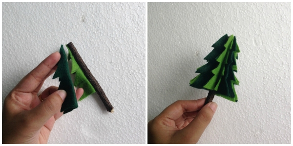 Сделайте рождественскую елку с мини-войлочкой