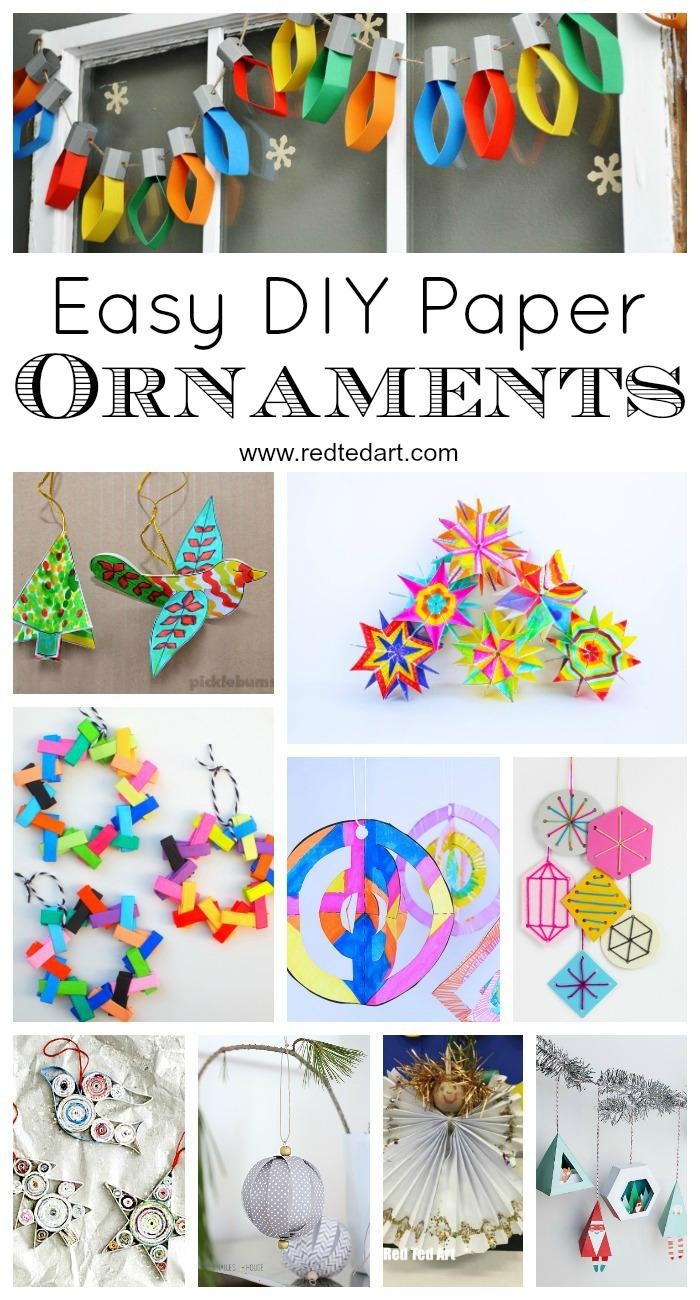 Бумажные рождественские украшения DIY Ideas