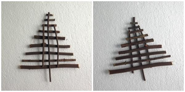 Сухая веточка рождественская елка декор