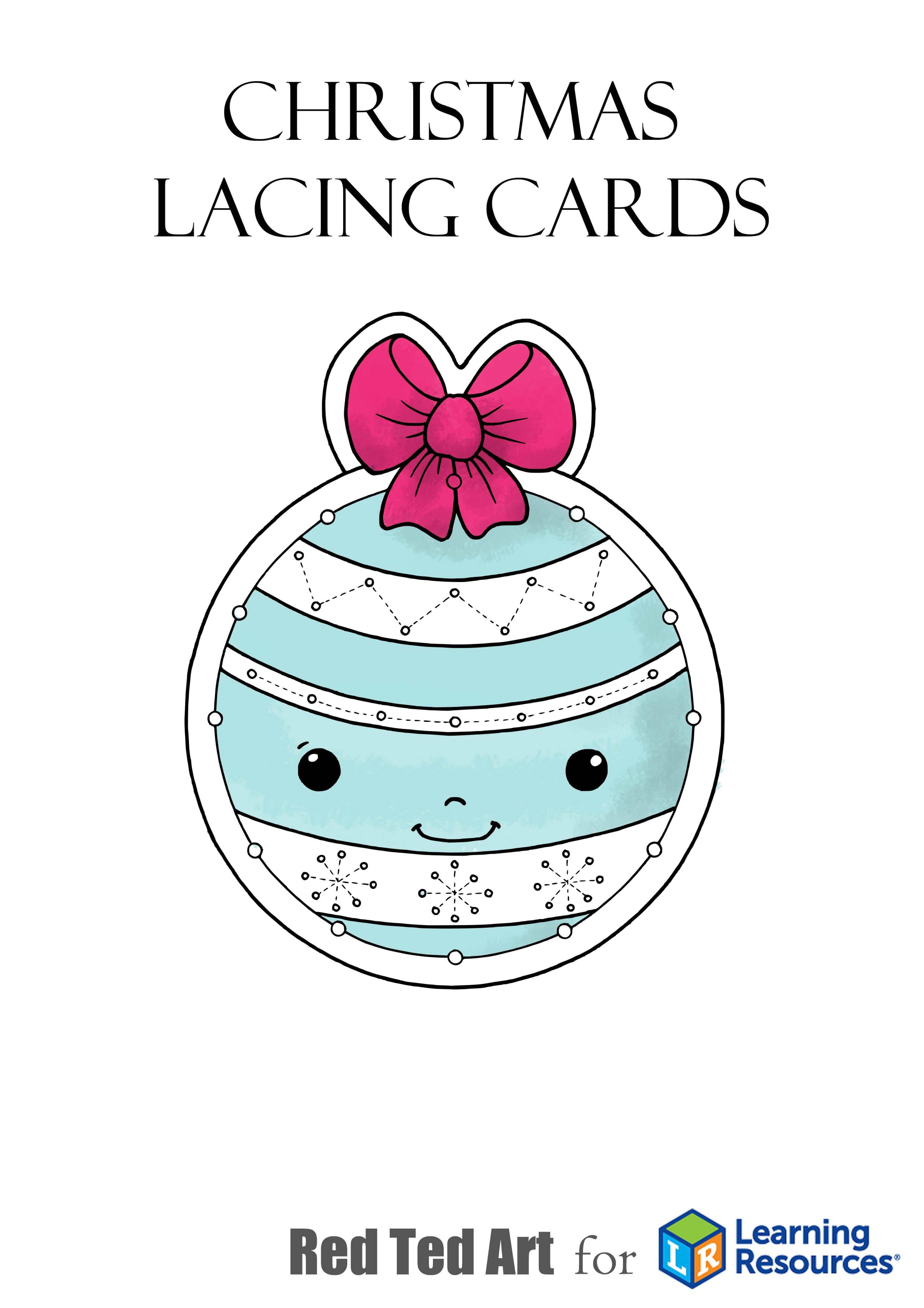 Печатные рождественские шнуровка карточек