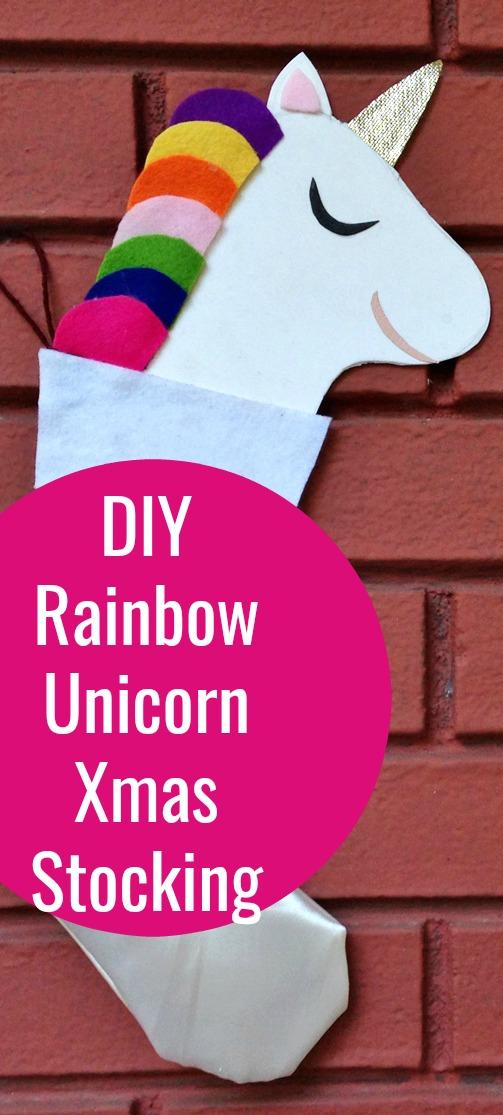 Сделайте свой собственный рождественский чулок единорога